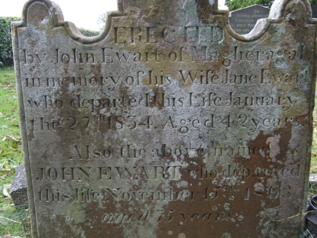 John and Jane Ewart headstone, Magheragall Parish Church