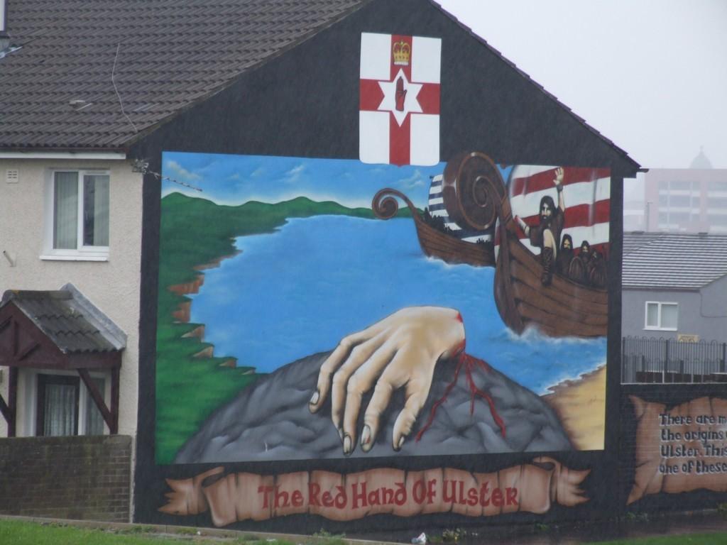 Red Hand brigade mural.