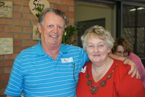 Ray Reece and Denice at the Brisbane Meet.