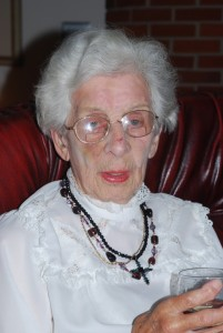 Joyce Palmer at 90yrs.
