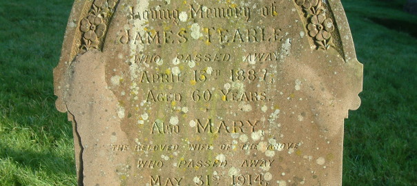 James Tearle and Mary headstone Stanbridge Church