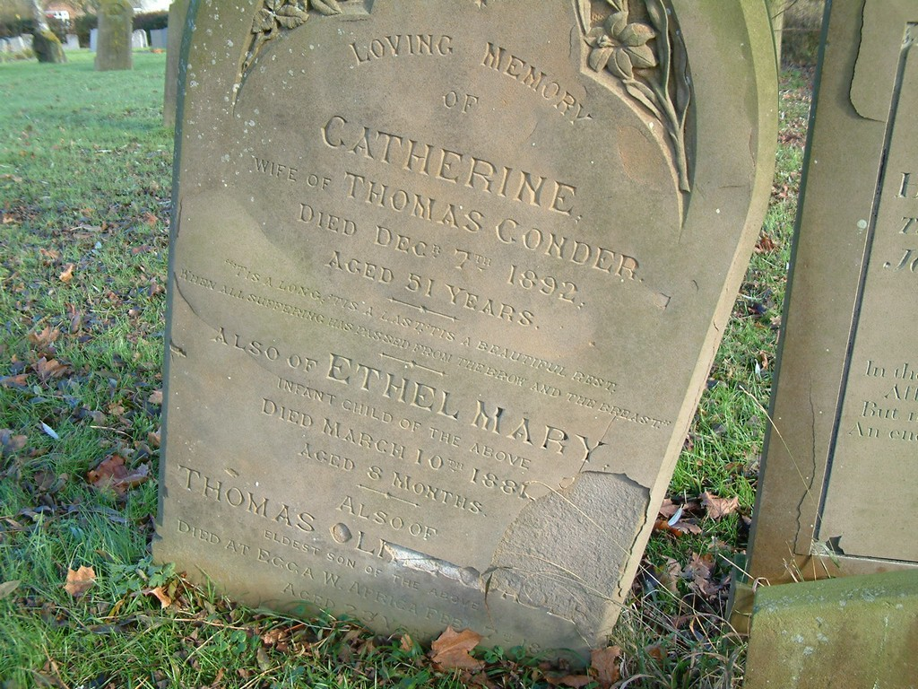Catherine Conder and Thomas Olney Conder, the Methodist missionary.