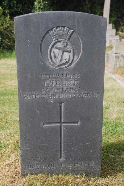 Crantock St Cemetery Newquay Louisa Tearle nee Lees headstone