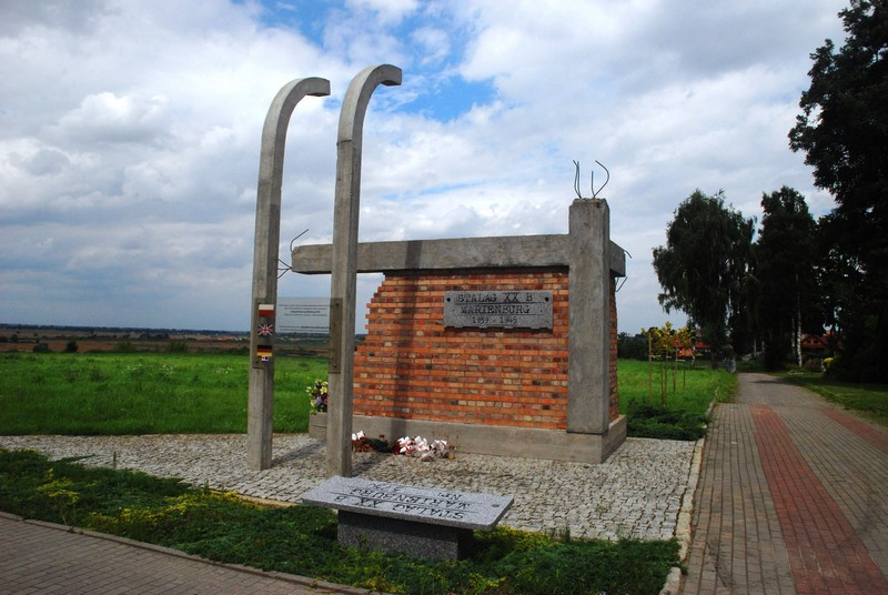 The memorial to the - unnamed - WW2 victims of Stalag XXB POW camp Malbork