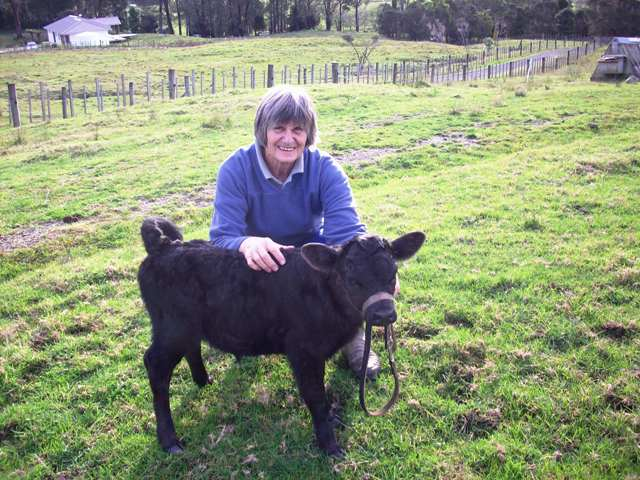 Rosemary Tearle and Nightingale - August 2009, Kaeo, Northland, NZ