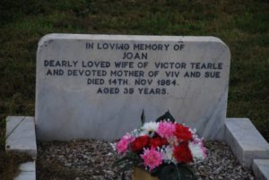 Headstone of Joan Tearle nee Goodman