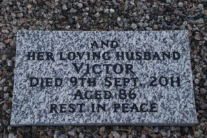 Headstone for Victor Tearle