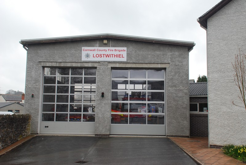 Our last view of Lostwithiel - their new fire station.