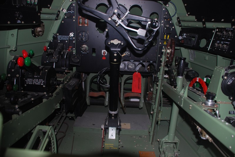 A quick look inside the cockpit