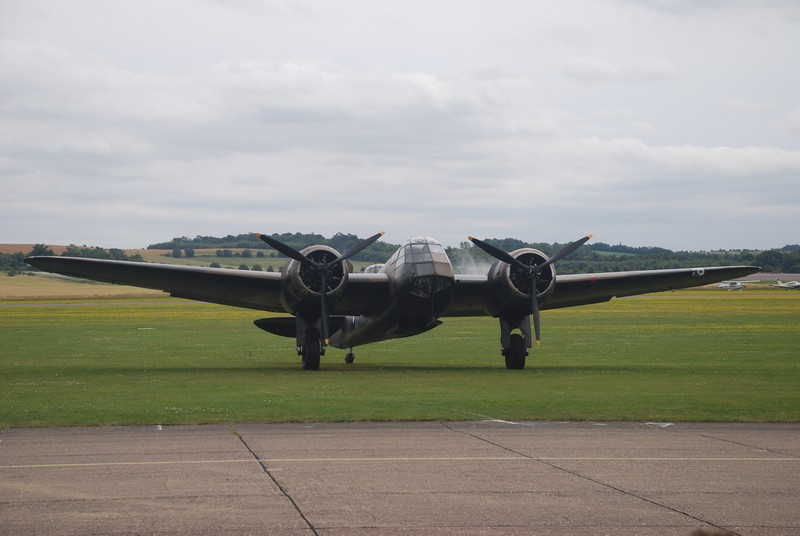 The last flying Bristol Blenheim at home in Duxford.