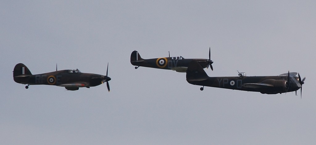 Blenheim and fighter escort over Duxford 2016.